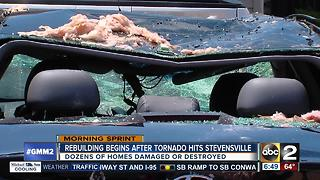 Rebuilding begins after tornado hits Stevensville on the Eastern Shore - Video