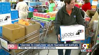 Crayons to Computers helps teachers get supplies - Video