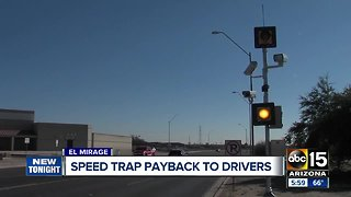 El Mirage paying drivers back after illegal speed trap