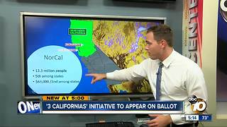 What would actually happen if voters decide to split California into 3 states? - Video
