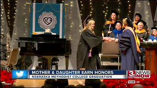 Mother and daughter graduate with honors from Nebraska Methodist College