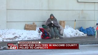 Homeless shelters in Macomb County filled to capacity - Video