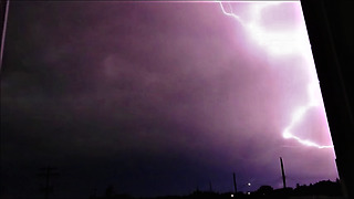 Lightning Bolts Strike Their Same Spots Multiple Times!  - Video