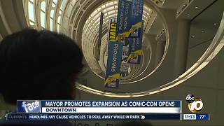 Mayor pushes for convention center expansion on first day of Comic-Con 2018 - Video