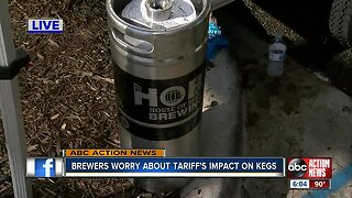 Tampa Bay area brewers concerned about rising keg prices from tariffs