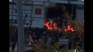 Student Protest Leads to Fire at School in France - Video