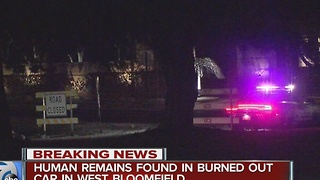 Human remains found in burned-out car in West Bloomfield - Video