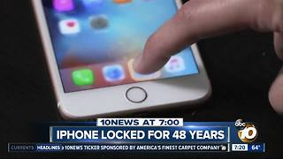 iPhone accidentally locked for 48 years? - Video