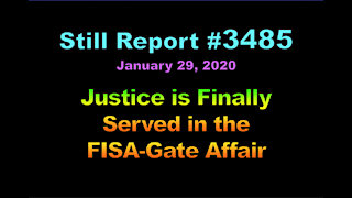 Justice is Finally Served in FISA-Gate Affair!, 3485