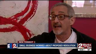 Small business worried about proposed resolution - Video