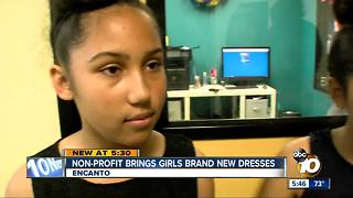 Non-Profit donates brand new dresses to San Diego girls - Video