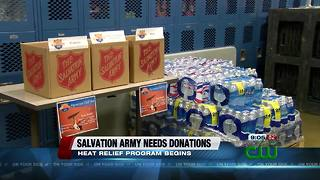 The Salvation Army needs donations for heat relief program