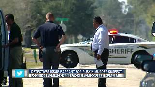 Deputies search for man wanted in murder of 2 people and unborn child in Ruskin - Video