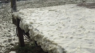 Windy Weather Churns Up Sea Foam 'Snow' Storm - Video
