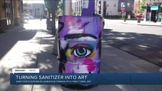 Lakewood sanitizer stations turned into art works