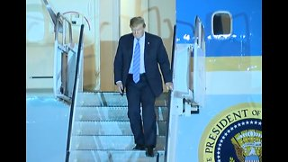 President Trump arrives in Las Vegas