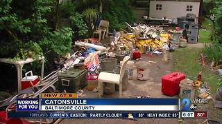 Flood victims assess damage in Baltimore County - Video