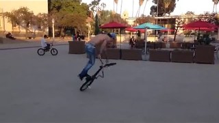 BMX Biker Blasts Tricks - Video