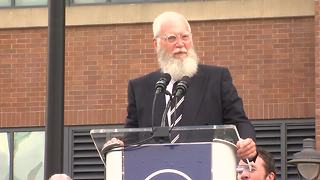David Letterman at Peyton Manning statue unveiling:
