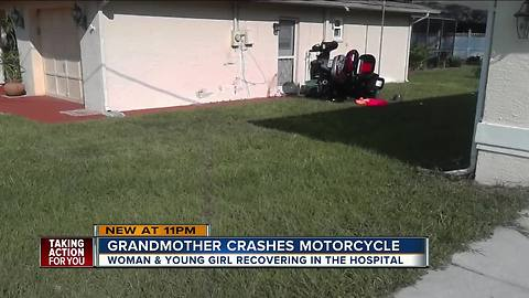 Spring Hill motorcycle crash leaves grandmother, granddaughter in critical condition