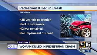 Woman hit, killed while crossing street in Phoenix on Thursday night - Video