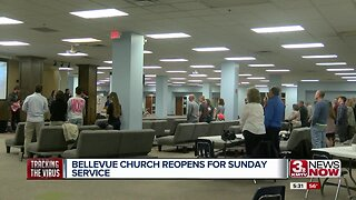 Bellevue church reopens for Sunday service