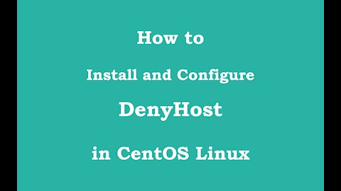 [VPS House] How to install and configure DenyHost in CentOS?
