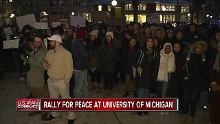 Rally for peace at the University of Michigan