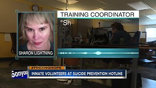 Inmate volunteers at Idaho Suicide Prevention Hotline