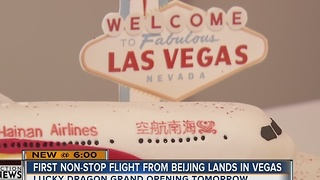 First non-stop flight from Beijing highlights growth of Chinese tourism in Las Vegas - Video