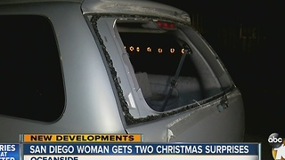 San Diego woman gets two Christmas surprises - Video