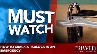 How to Crack a Padlock in an Emergency - Video