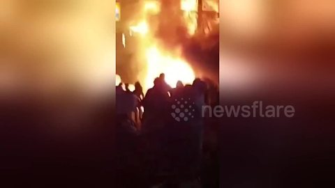 Revellers run screaming into street as fire rips through bars in Thai red light district