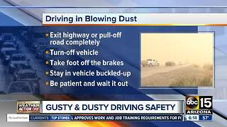 How to drive during a dust storm in Arizona