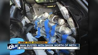 Man arrested, accused of trying to smuggle meth at border - Video