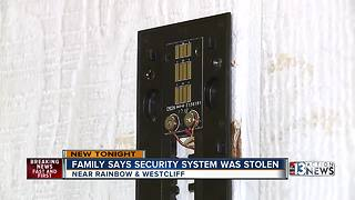 Las Vegas couple's security camera snatched from home