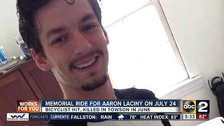 Memorial ride planned to honor hit-and-run victim Aaron Laciny - Video