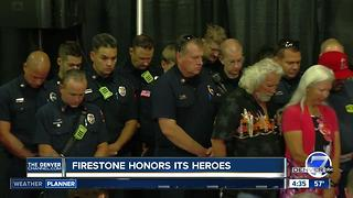Town of Firestone honors first responders months after home explosion - Video