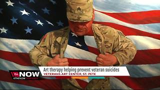Center offers art therapy to help veterans heal from images of war - Video