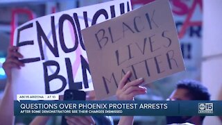 Protesters accuse Phoenix police of intimidation
