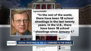 PolitiFact Wisconsin: School shootings in the U.S. compared to the world - Video