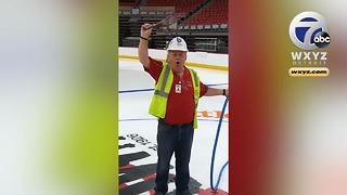 Watch the first octopi being thrown on the ice at Little Caesars Arena - Video