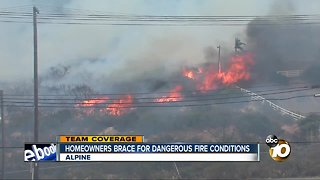 homeowners brace for dangerous fire conditions