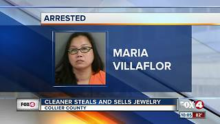 Cleaner Steals and Sells Jewelry - Video