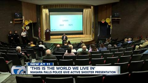 Niagara Falls PD host class on what to do during an active shooter situation