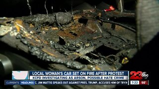 Local woman's car set on fire following protest