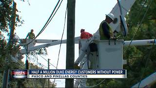 Half a million Duke Energy customers without power