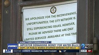 Scammers looking to capitalize on confusion over how to pay Baltimore water bills