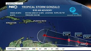 Tropical Storm Gonzalo forms in the Atlanic