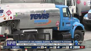 Dangerous deliveries during Florence flooding